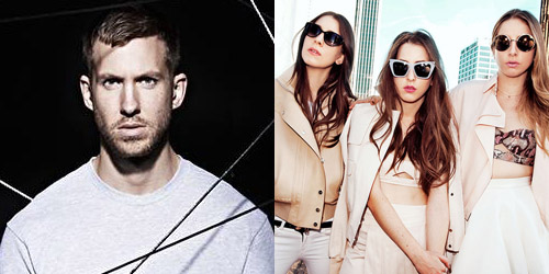Calvin Harris and HAIM